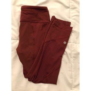 Pace Rival lululemon maroon leggings